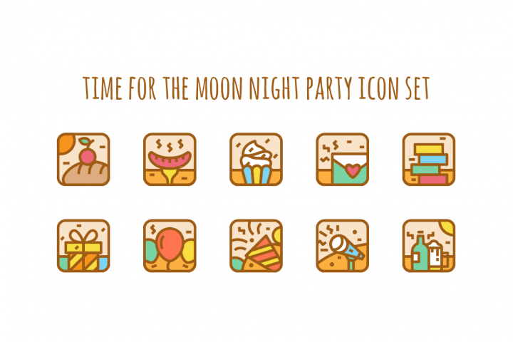 Party Icon Illustration set