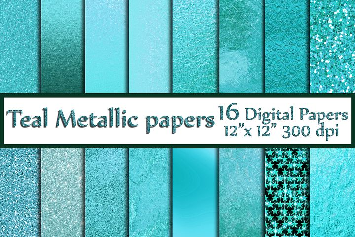 Teal Digital Paper