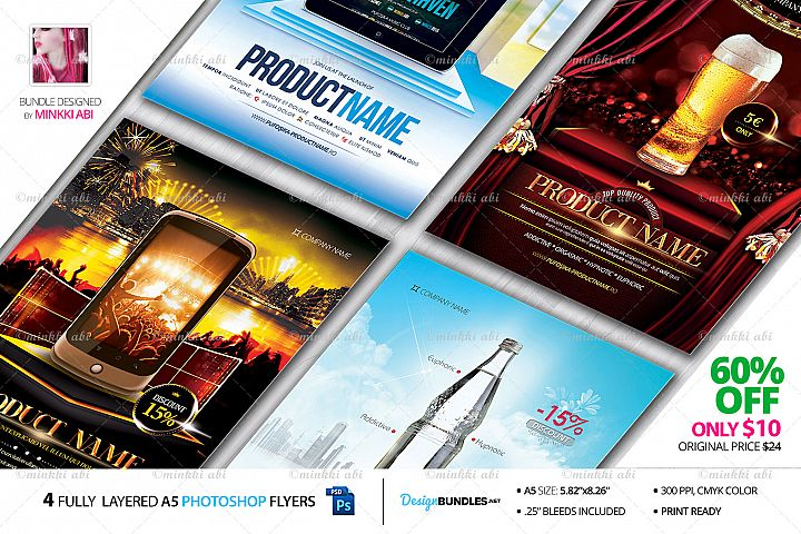 4 Product Flyers Bundle