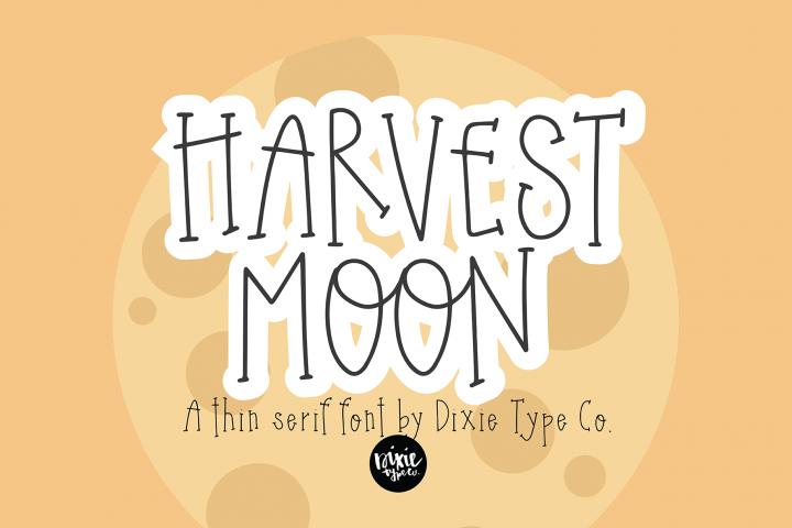 HARVEST MOON Thin Serif Font