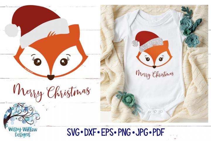 Santa Fox SVG | Christmas Fox SVG Cut File