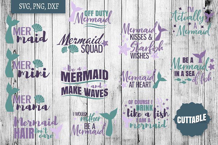 Mermaid SVG bundle, Mermaid cut file bundle, Ocean cut files