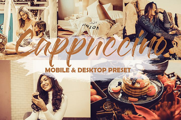 4 Mobile and Desktop Lightroom Presets Cappuccino