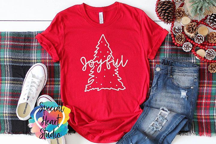 Joyful - A Cute Christmas SVG Cut File