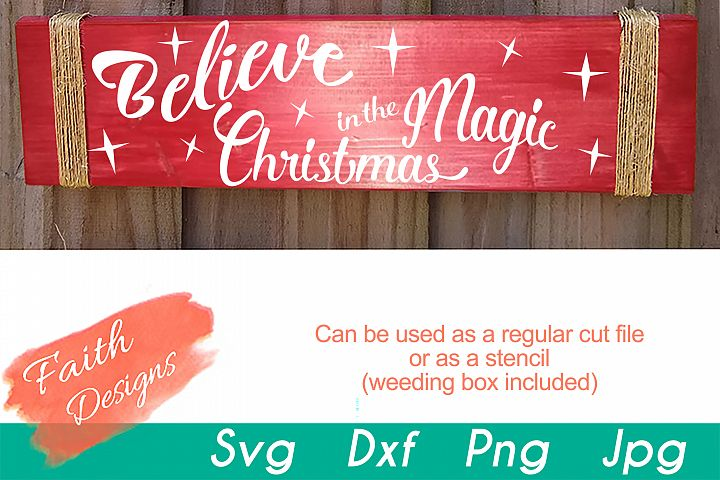 Believe In The Magic Christmas Porch Sign
