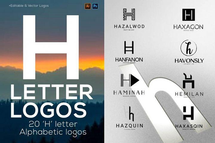 H Letter Alphabetic Logos