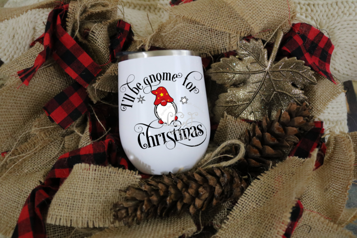 Ill be gnome for Christmas//SVG//EPS//DXF File
