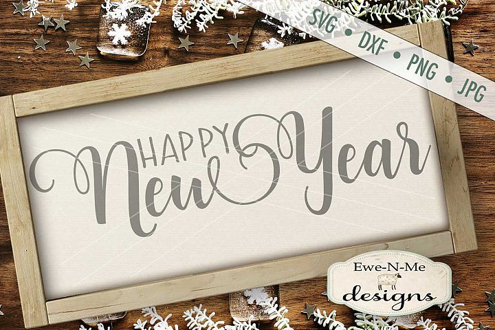 Happy New Year SVG DXF Files