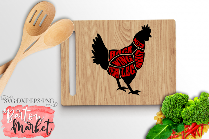 Chicken Butcher SVG DXF EPS PNG