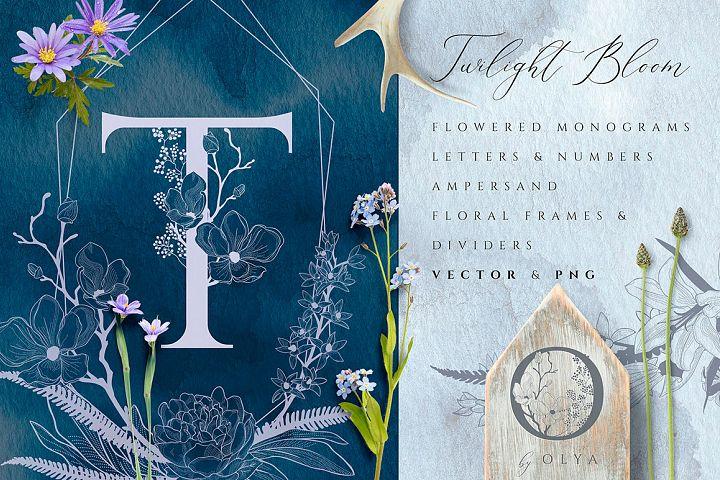 Floral Monograms & Elements