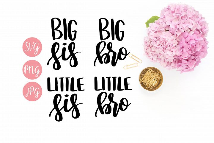 Big/Little Bro/Sis SVG, PNG, JPEG