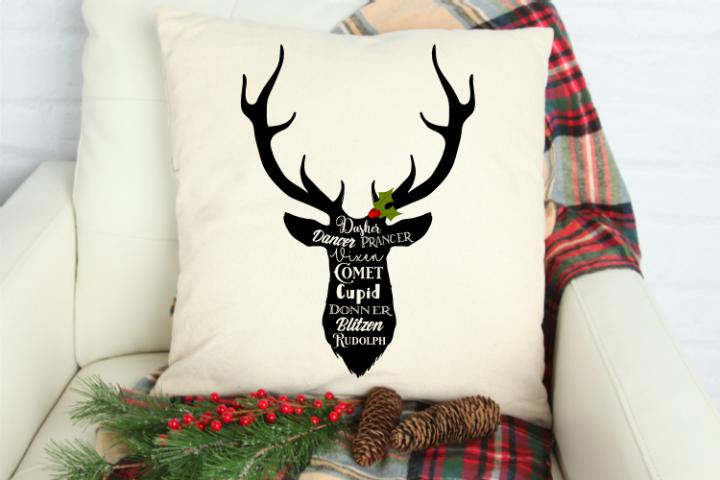 Christmas Reindeer svg cut file