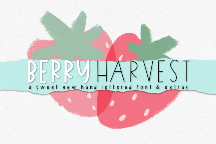 Berry Harvest Font & Extras