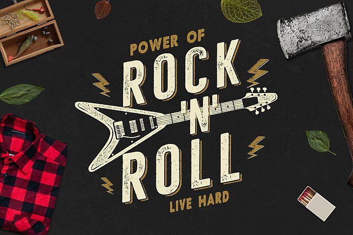 Music Rock n Roll Print for T-Shirt, Retro Design, SVG File