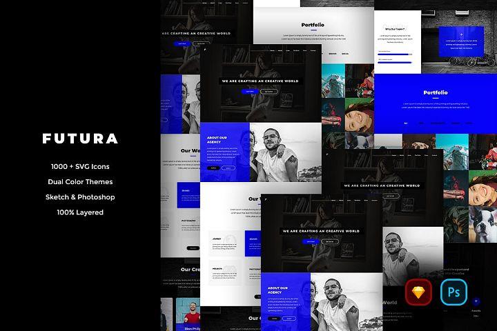Futura Creative Website UI Kit