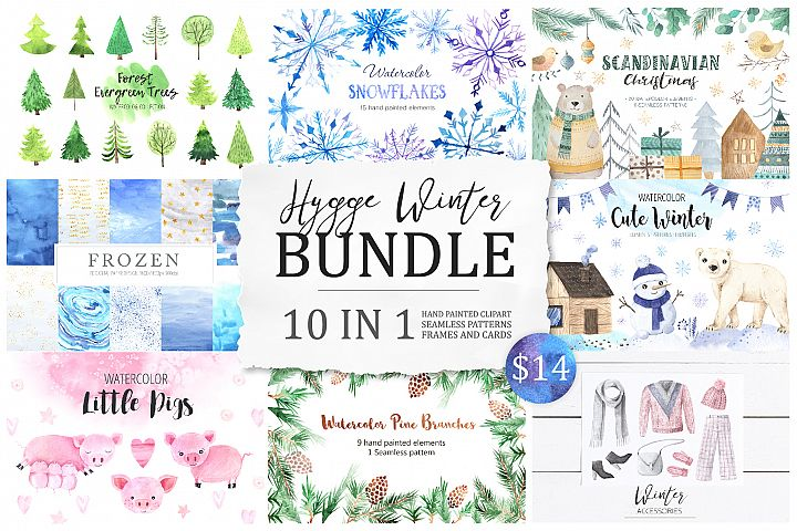 BUNDLE Winter Hygge Watercolor Kit
