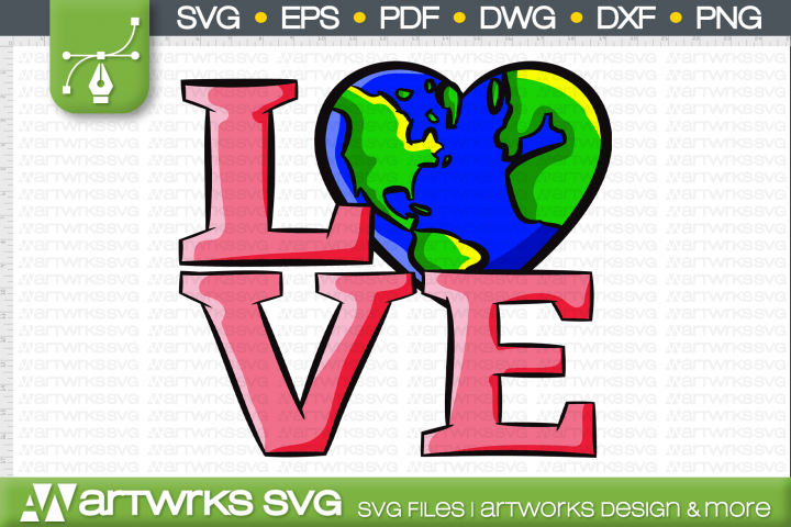 Earth day shirt SVG files for Cricut | Love Earth day