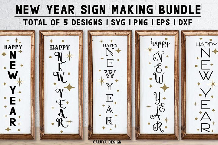 New Year Wood Sign Making Bundle | Total of 5 Designs!