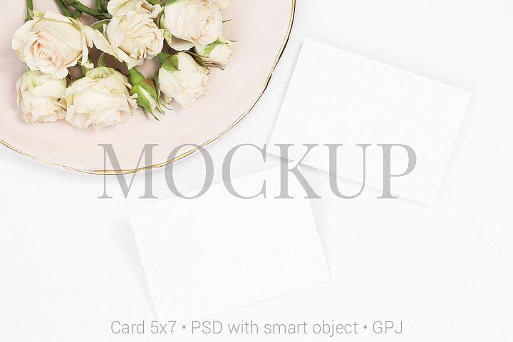 Flat lay mockup card & FREE BONUS