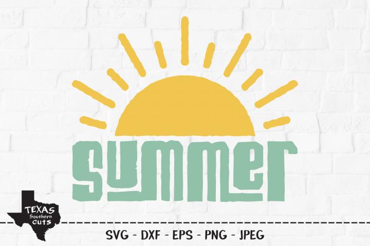 Summer SVG, Cut File, Summer Vacation Shirt Design, Sunshine