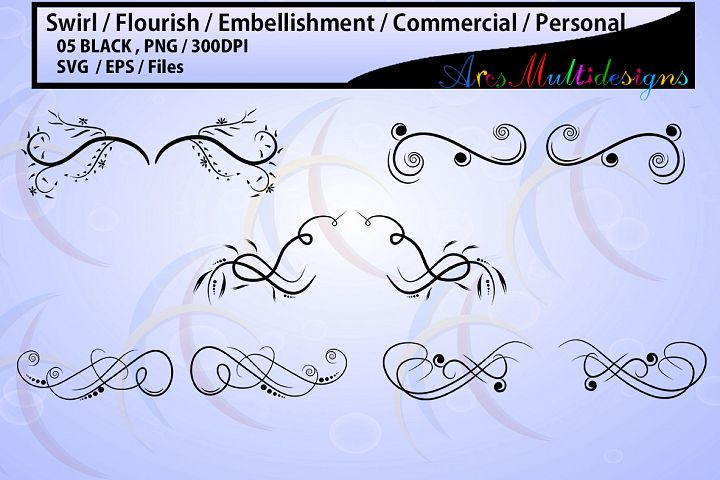 embellishment / swirl / flourish / COMMERCIAL USE / Personal use / SVG / Eps / Png / high quality printable / wedding / for crafts