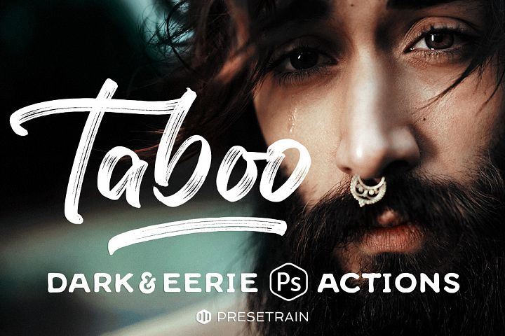 Taboo Dark Fantasy Actions for Photoshop