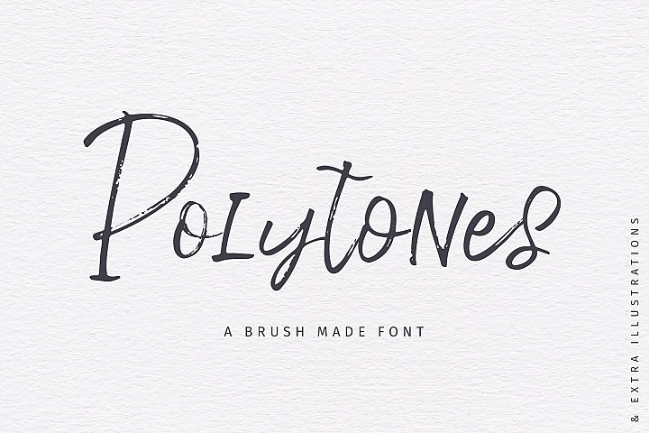 Polytones | A Brush Made Font