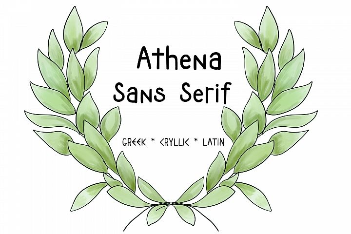 ATHENA SANS SERIF FONT - Greek, Cyrillic and Latin Typeface