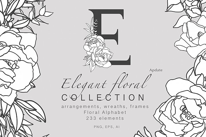 Elegant floral collection