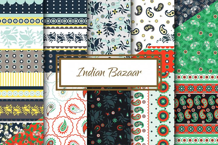 Indian Bazaar Seamless Patterns