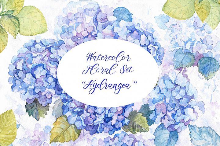 Hydrangea Watercolor Flowers