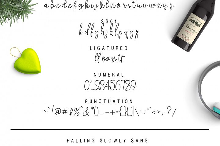 Falling Slowly - Free Font of The Week Design3