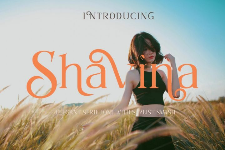 Shavina Serif Font with beauty swash and alternate