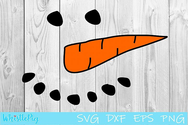 Snowman Face Svg Snowman SVG DXF EPS PNG