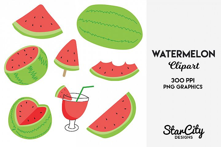 Watermelon Clipart for commercial use