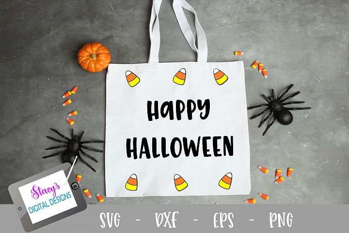 Happy Halloween SVG - candy corn