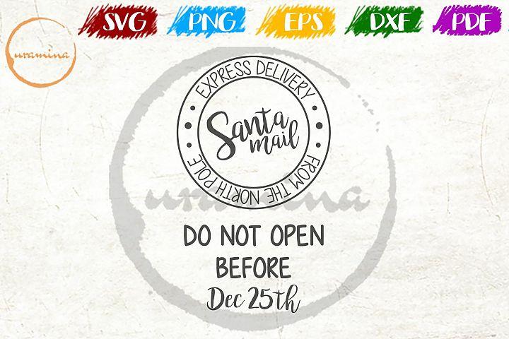 Express Delivery Santa Mail Christmas SVG PDF PNG