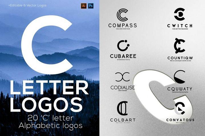 C Letter Alphabetic Logos