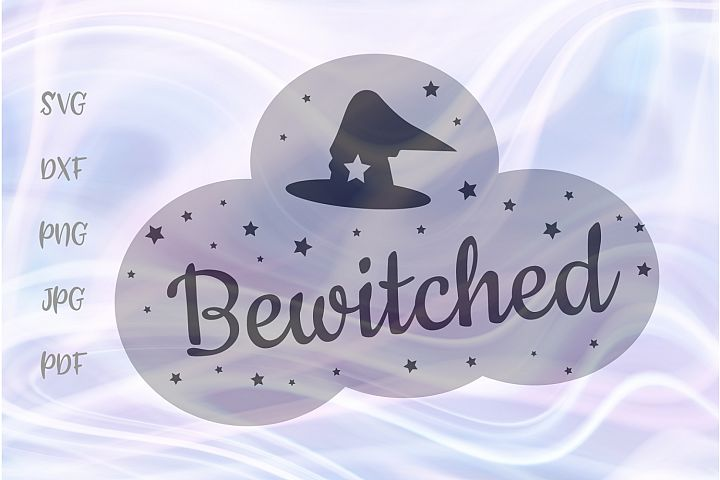 Happy Halloween Bewitched Sign Cut File SVG DXF PNG PDF JPG