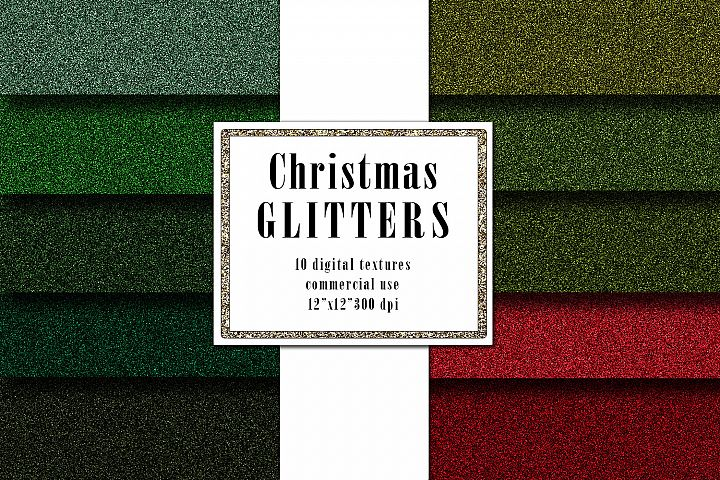 Christmas Glitter Digital Textures, Green Red Surface