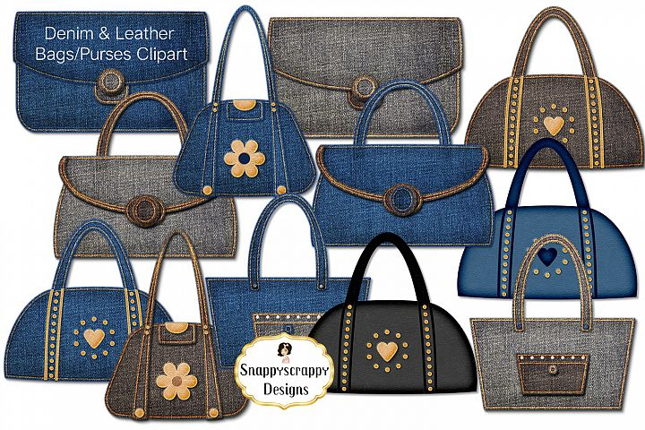 Denim & Leather Bags/Purses