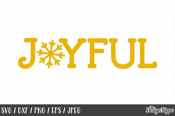 Christmas, SVG, Joyful, Snowflake, PNG, DXF, Cricut Cut File