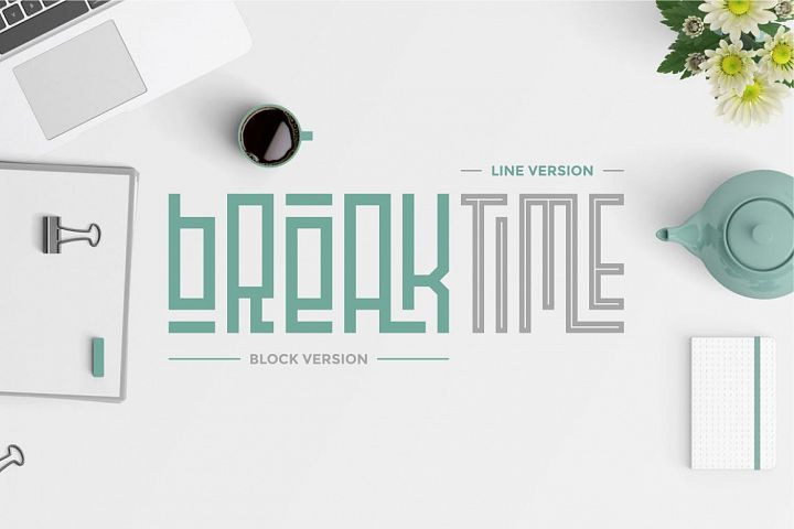 Playlines - Display Typeface example 1
