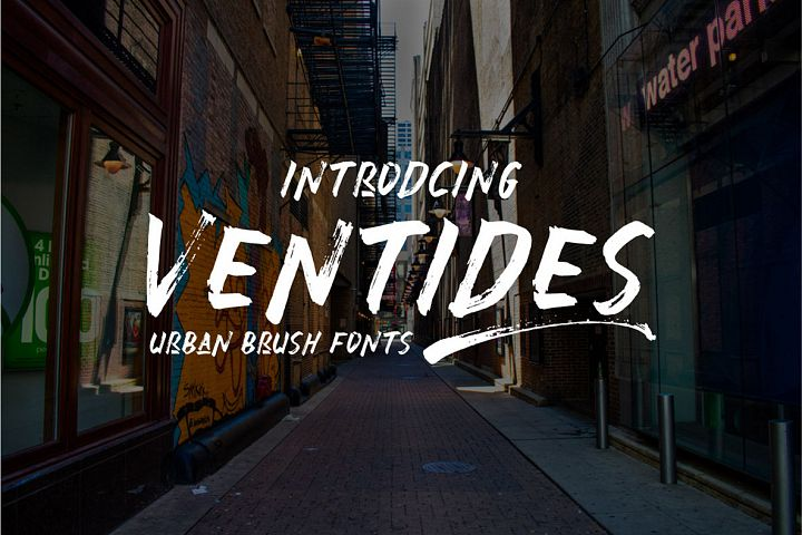 Ventides | Urban Brush Fonts