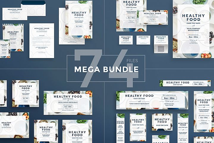 Healthy Food Design Templates Bundle