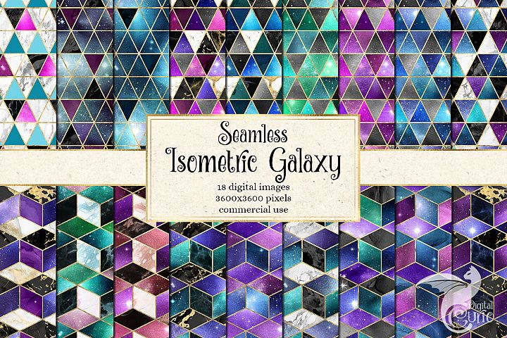 Isometric Galaxy Digital Paper
