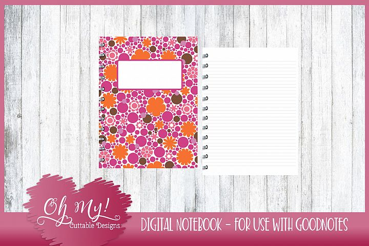 Sweet N Sassy Floral Digital Notebook for iPad GoodNotes