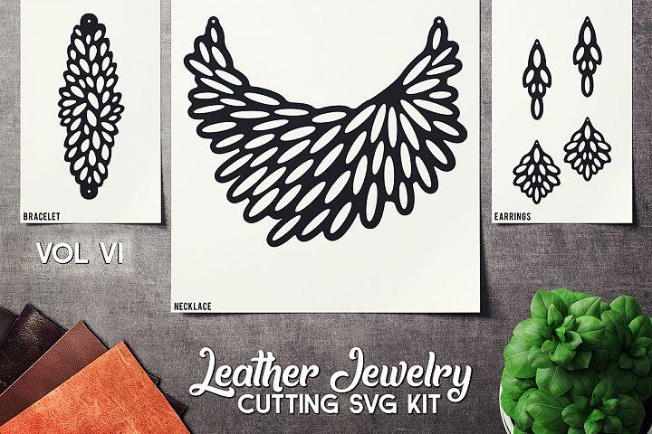 Leather Jewelry CUT Template- Earrings - Braceles - VOL 6