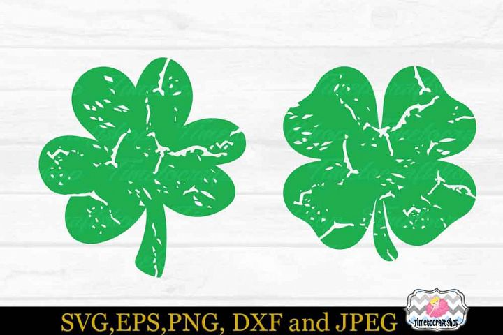 St Patricks Day, Distressed Shamrock, Irish SVG, Grunge SVG