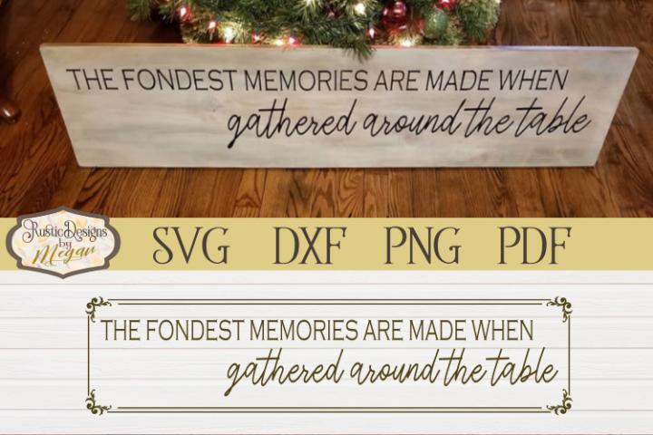 Fondest Memories SVG - Farmhouse cut file